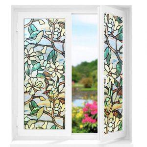 Hoa dây là một loại trang trí phổ biến được ứng dụng rộng rãi trên mẫu giấy dán cửa kính chống nắng