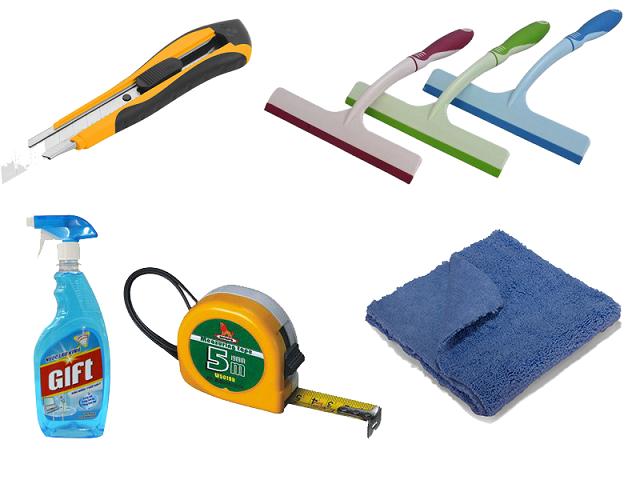 Một số dụng cụ cần thiết khi làm decal mờ dán cửa kính